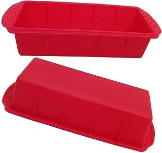 GMMH Moule à cake Moule en silicone Moule à gâteau Moule à pain moule à cake - Rayures Rouge