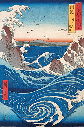 Hiroshige Póster (Naruto Whirlpool), 61 x 91,5 cm