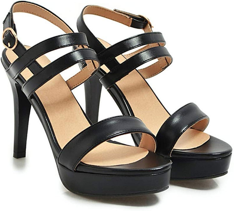 GAO-GEN1 shoes Women Sandals Buckle Platform Stiletto Heel shoes Elegant High Heel Party Sandals Lady Plus Size 43