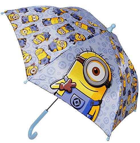 alles-meine.de GmbH Regenschirm / Stockschirm - Minions  Ich einfach unverbesserlich  - BLAU - Kinderschirm - Ø 68 cm - Kinder Schirm Kinderregenschirm / Glockenschirm - für Mä..