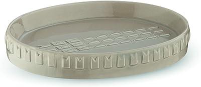 Kela ケラ ソープディッシュ サンドグレー サイズ:12.5×9.5×H2cm ソープディッシュ 磁器 サンドグレー Lenora 24214