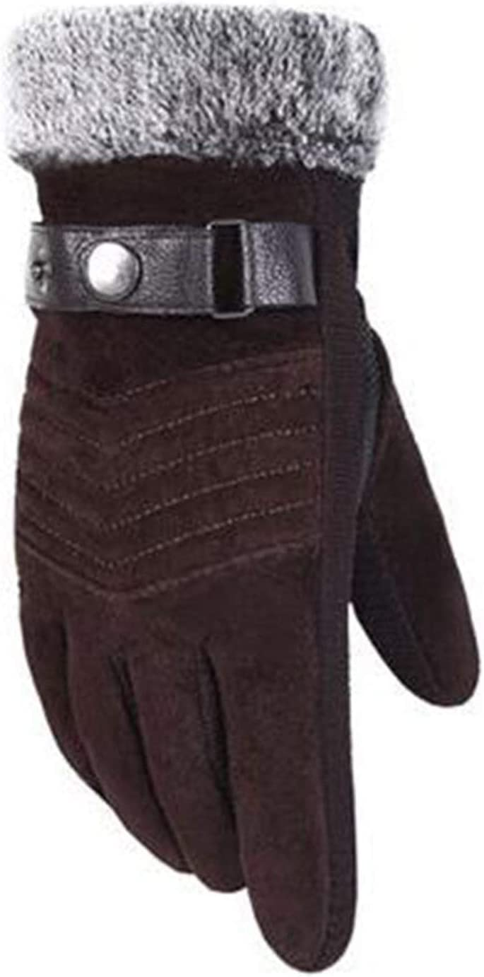 Lupovin-Keep Warm Easy Gloves, Non-Slip and Velvety Cushioned Gloves, Men's Windproof and Raincoat Bicycle Quick Non-Slip (Color : B)