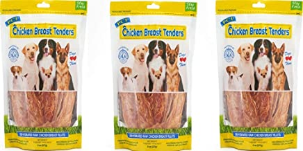 Pet Center 3 Pack of Chicken Breast Tenders, 8 Ounces Each, Single Ingredient Dog Treats Made in The USA