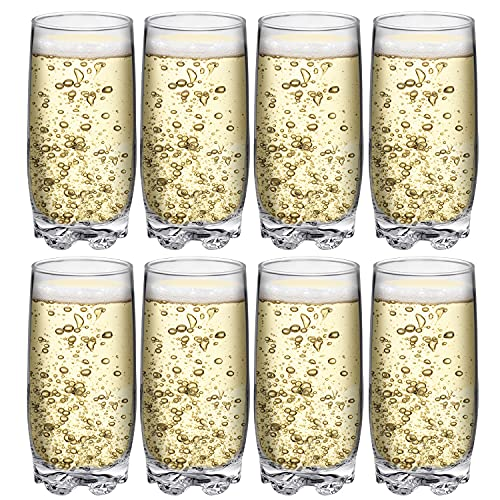 Drinking Glasses set of 8 Highball Glass cups By Home Essentials & Beyond – Premium Cooler 13.25...