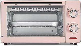 HZY 11L Horno eléctrico, Mini Horno horno de banco 1000W 60 minutos Momento Doble Grill Incluye separados escoria bandeja 8 alas de pollo, 8 pulgadas de la torta de gasa (Color: Azul), Color: Rosa