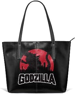 ゴジラ Godzilla 不明生物 トートバッグ 手提げバッグ 肩掛け レディース ショルダーバッグ 人気 斜めがけ大容量 レザー ハンドバッグ ショピング 人気 バッグ 旅行 出張 通勤 プレゼント