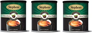 Stephen's Gourmet Hot Cocoa, Chocolate Mint Truffle - 1lb. Canister (Pack of 3)
