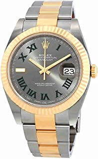 Rolex Datejust 41 Grey Dial Stainless Steel and 18K Yellow Gold mens Watch 126333GYRO