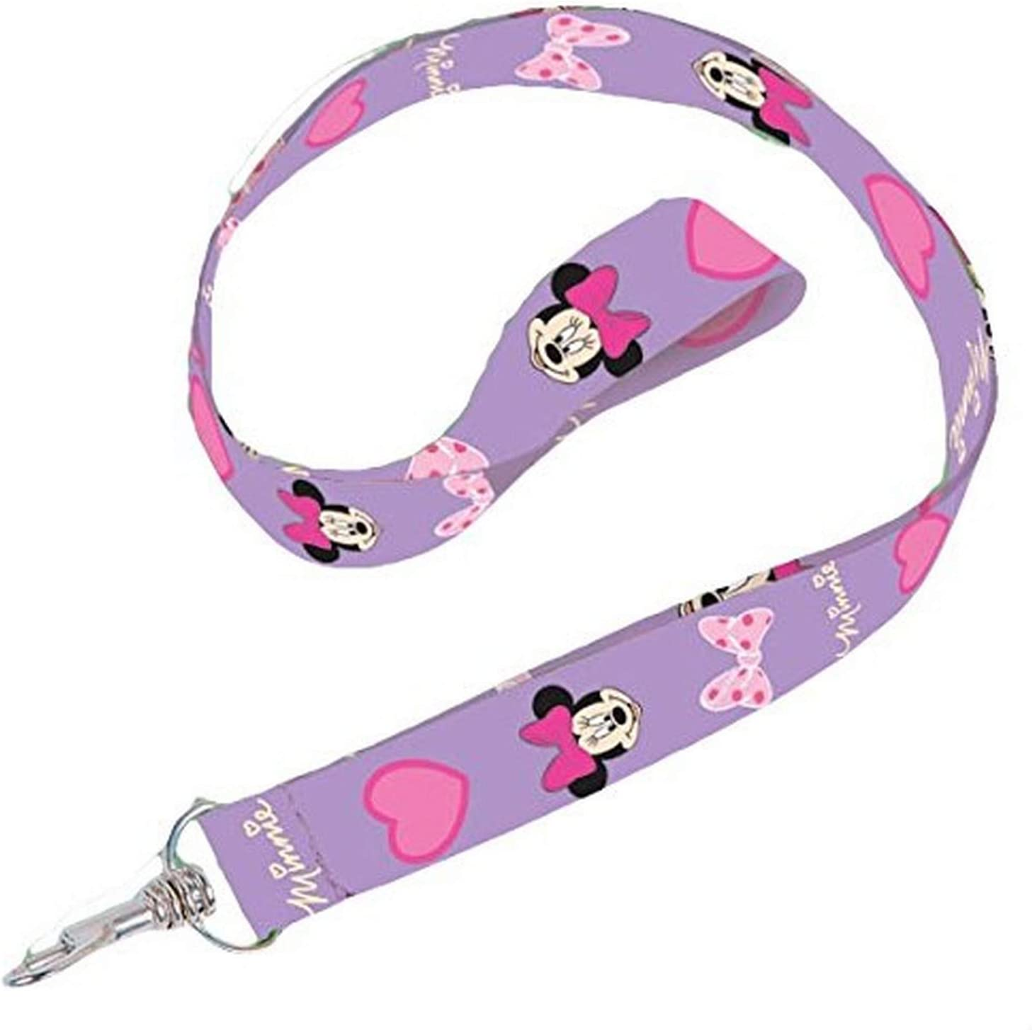 Multicolor Disney 85792 Minnie Mouse Lanyard with Zip Lock Card Holder