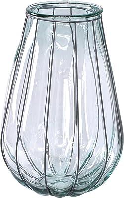 SPICE OF LIFE(スパイス) 花瓶 リサイクルガラスフラワーベース VALENCIA クリア 直径35cm 高さ52cm スペインガラス 大型 VGGN1230