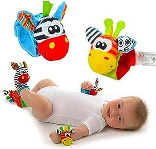 Set Pulseras Y Calcetines Para Bebé Hermoso Diseño Peluche Juguete