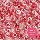 WeddingTree Herzbonbons Rot - 500 g Rocks Bonbons handgewickelte Süßigkeiten Großpackung -...