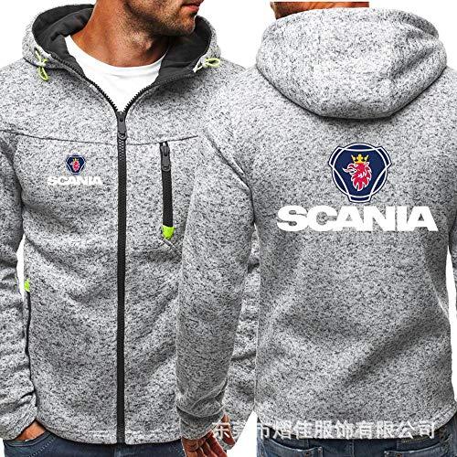 Men's Hoodie Zipper Sweatshirt - SCANIA Casual Gradient Printed Unisex Long Sleeve Hooded Jacket...