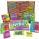 Kleiner Amerikanische Wonka Nerds Süßigkeiten Geschenkkorb | Süßigkeiten aus den USA | Auswahl beinhaltet Nerds, Laffy Taffy | Retro Geschenkebox