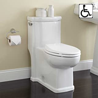 Signature Hardware 384960 Halcott 1.6 GPF Siphonic One Piece Elongated Chair Height Toilet - Seat Included
