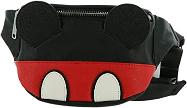 Loungefly Mickey Mouse Faux Leather Fanny Pack - ST, Red-black-white