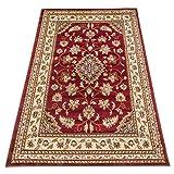 Alfombra con dibujo persa, clásica, para salón, color rojo, cód. 757