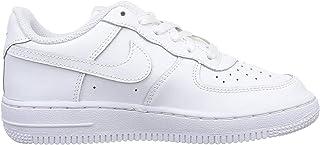 Nike Kid's Air Force 1 Low Preschool Basketball Shoes, White/White-White 2.5Y