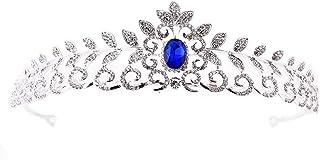 Dongyu Corona, Copricapo da Sposa, Fascia da Sposa, Strass, Gioielli con Corona di Bellezza (Color : Blue)