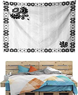 HuaWuChou Oriental Frame Tapestry Wall Abstract, Nature Tapestry Wall Hanging for Bedroom Living Room Dorm, 92.5W x 70.9L Inches