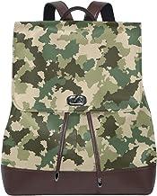 Ahomy Damen Fashion PU Leder Rucksack Camouflage Anti-Diebstahl Rucksack Schultertasche