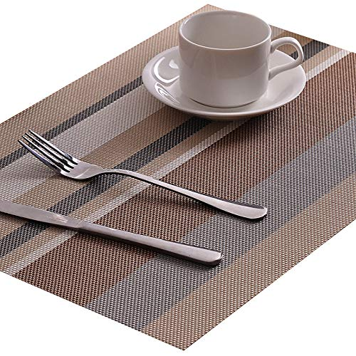 WJ Tischset Isolierung Western Tischset Hotel Anti-Skid PVC Tischset (4er Pack) Multicolor 1 45 * 30cm