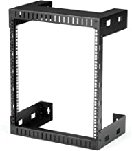 "StarTech.com 12U 19"" Wall Mount Network Rack - 12"" Deep 2 Post Open Frame Server Room Rack for Data/AV/IT/Computer Equipme..."