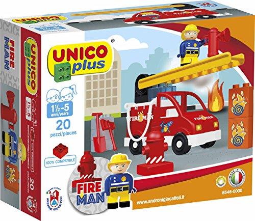 COSTRUZIONE Unico City-Pompieri Veicolo 20pz 8546