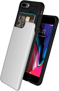 GOOSPERY iPhone 8 Plus Case, iPhone 7 Plus Case, [Sliding Card Holder] Protective Dual Layer Bumper [TPU+PC] Cover with Card Slot Wallet for Apple iPhone 7 Plus/8 Plus (Silver) IP8P-SKY-SIL