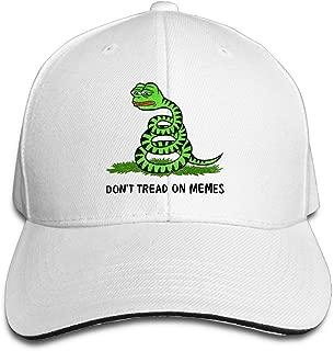 Pepe Frog Don't Tread On Memes Mens Sandwich Snapback Hats