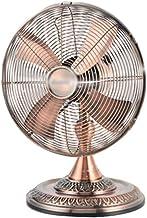 Ventilateur de bureau rétro, bibliothèque ventilateur de refroidissement en métal fort vent d'été en métal Dorm Chambre Mu...