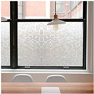 Privacy Window Films, Translucent Glass Tint Static Cling Treatment Reflects Rainbow Effect with Sunlight - Home Security ...