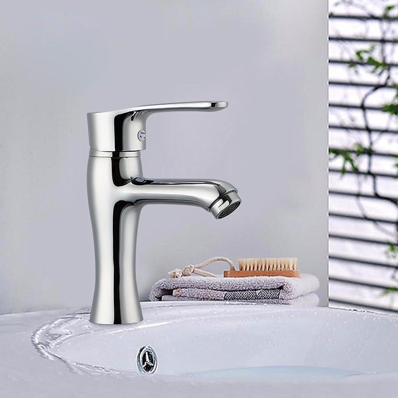 LHbox Bad Armatur in Bad für Waschbecken Waschtisch Wasserhahn Waschtischarmatur Warme und kalte Becken tippen, Gesundheit bleifreie voll Kupfer-Mixing Wasserhahn