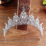 Jovono - Coronas y tiaras de cristal, accesorios de pelo para mujer, para bodas o fiestas...