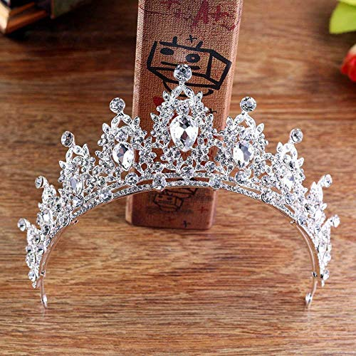 Jovono, corona per matrimoni e diadema da principessa in cristallo, accessori per capelli, feste, per donne