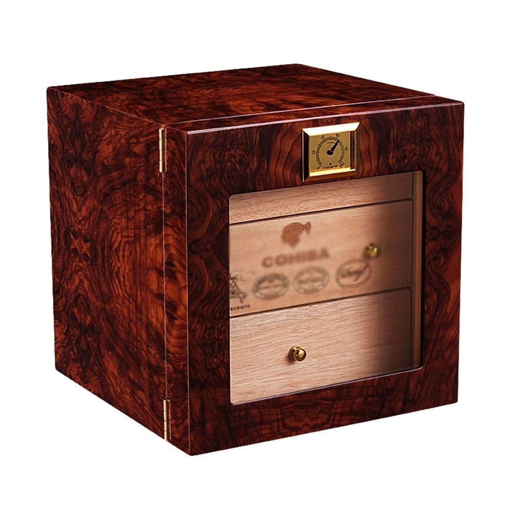 Accesorios de Cigarrillos Caja de cigarros de Tres Capas de Cedro Madera Suave cigarro humidor de Piano Pintar gabinete, Proceso de cocción cigarro (Color : Brown, Size : 24 * 26 * 24cm): Amazon.es: Hogar