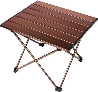 HAPPYX Aluminium Faltbarer Tisch Ultraleicht tragbar Draussen Picknick Party Wandern Camping Angeln BBQ Schreibtisch mit Aufbewahrungstasche