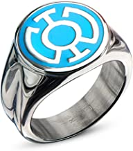 DC Comics Blue Lantern Corps Stainless Steel Blue Enamel Hope Ring