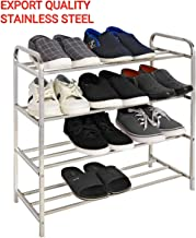 LiMETRO STEEL Stainless Steel 12-Pair Shoe Rack for Home (24 x 24 in)