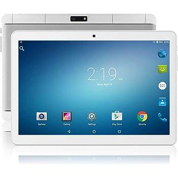 ZONKO タブレット 10インチ Android 9.0タブレット、32GB、3G電話タブレット、デュアルSimカード、2MP/5MPデュアルカメラ、クアッドコアプロセッサ、1280x800 IPS HDディスプレイ、GPS、FM 日本語仕様書付き(ホワイト)