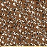 ABAKUHAUS Erdfarben Stoff als Meterware, Kakaobohnen