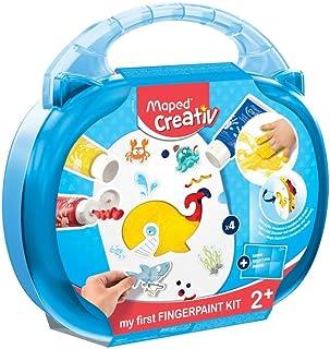Maped Creativ - Kit de peinture au doigt - Loisirs créatifs enfants - Premier âge