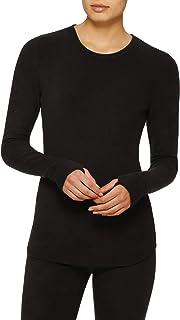 Cuddl Duds Womens Flex Fit Crew Long-Sleeve T-Shirt Plum Space Dye//Purple Size XS