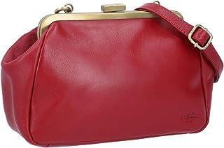 Gusti Handtasche Leder - Luzie Ledertasche Abendtasche Vintage Rot Leder