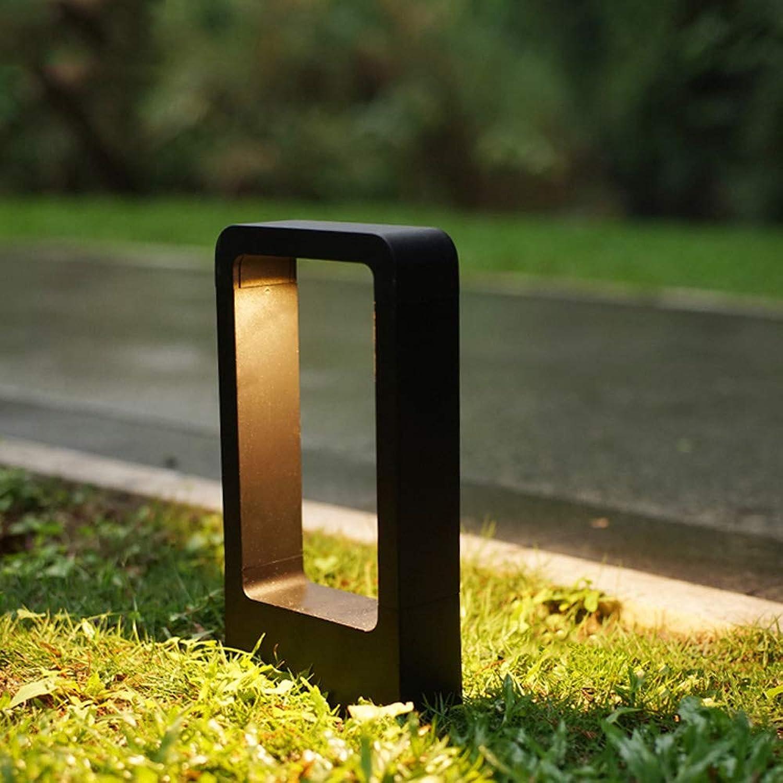 HBLJ Wegeleuchte LED 7W 3000K Wegelampe LED Sockelleuchte Pollerleuchte 30cm Auenleuchte schwarz IP65 Garten Terrassen-Leuchte