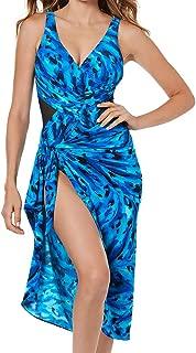 Women's Plus Size Swimwear Ocean Ocelot Long Sarong Swimsuit Cover Up