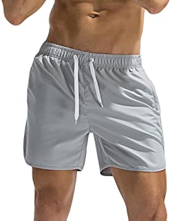 Sunnywill Herren Hosen Herren Männer Hosen Sommer Sport Stretch Slim Fit Cargo Chino Plus Size Breathable Badehose Hosen Bademode Strand Shorts Slim Wear