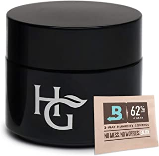 Herb Guard - Quarter Oz Airtight Container and Smell Proof Jar (100ml) Ultraviolet Protection Keeps Herbs Fresh for Months