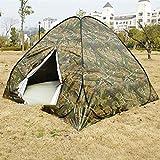 SZTUCCE 3-4Persons Pop Up Tent a bajo Precio para el Viaje al Aire Libre Camping Dos Color de Camuflaje Doble en una Bolsa de Transporte Redonda Easy Carry Fishing Tent Tent Tents Blackout Tienda