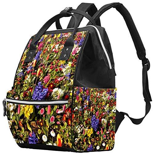 Wickeltasche mit Blumenmotiv, Wickeltasche, Krankenhaus-Umstandstasche